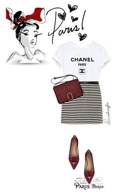 """When in Paris...I wear flats 3/13/2016"" by idocoffee ❤ liked on Polyvore featuring Charlotte Olympia, T By Alexander Wang, 3.1 Phillip Lim, Love Always, stripes, flats, coffee and parisbistro"