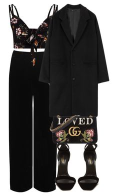 """""""Good Vibes."""" by aanchal-w ❤ liked on Polyvore featuring WearAll, Yves Saint Laurent, Gucci and polyvoreeditorial"""