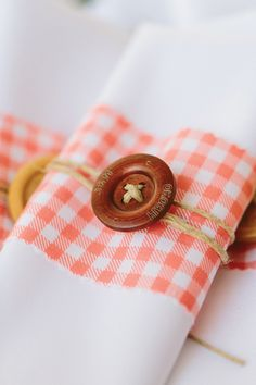 sweet gingham napkin wraps | Ashleigh Jayne