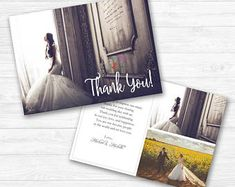 Elegant Thank You Card Templates for Wedding Thank You Card Template, Wedding Card Templates, Wedding Thank You Cards, Psd Templates, Elegant Wedding, Photoshop, Invitations, Words, Prints