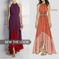 Sew the Look: This maxi dress pattern is perfect for all kinds of summer special occasions. Vogue Patterns V9104.