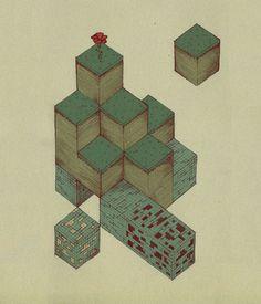 Some simple Minecraft art