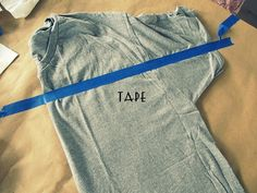 Striped, Strapless No-Sew T-Shirt, DIY.
