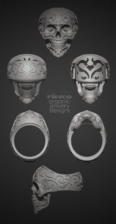 Baroque Skull Ring by Nacho Riesco