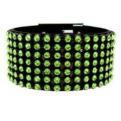 Acosta Jewellery - Peridot Green Crystal Fashion Bracelet / Cuff Acosta Jewellery. $65.99