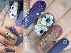 Uñas Acrilicas Estilo Sinaloa | Natos Nails - YouTube