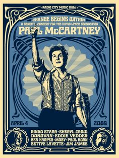 SHEPARD FAIREY TUESDAY: PAUL MCCARTNEY, THE GROWN-UP BEATLE PRINT