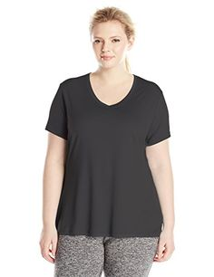 Just My Size Women's Plus-Size Cooldri s/V-Neck *** Click image to review more details.