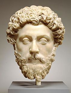 Head of Marcus Aurelius. Marble. 161—180. Height: 12 5/8 in. (32 cm). Inv. 23.215. Baltimore (USA), the Walters Art Museum.