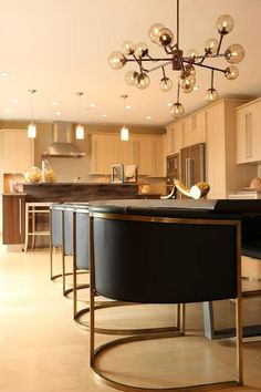 Kenneth Byrd Design - dining rooms - Arteriors Calvin Top Leather Armchair, Dining room, Arteriors Dallas Chandelier, Arteriors Calvin Chair...