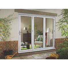 Ellbee uPVC Fold & Slide Double-Glazed Patio Door Right-Hand 2390 x 2090mm   PVCu Bi Fold Doors   Screwfix.com
