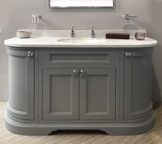 Grey Vanity Unit, Bathroom Vanity Units, Bathroom Cabinets, Bathroom Storage, Furniture Vanity, Grey Furniture, Bathroom Furniture, Upstairs Bathrooms, Dream Bathrooms