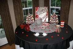 Justin's grooms table