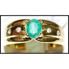 http://rubies.work/0593-emerald-rings/ Emerald Jewelry Diamond Solitaire 18K Yellow Gold by BKGjewels