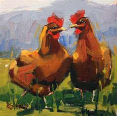 "Daily Paintworks - ""Chicken Heart"" - Original Fine Art for Sale - © Cathleen Rehfeld"