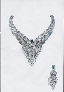 Photo Jewelry, Wire Jewelry, Gold Jewelry, Jewelry Necklaces, Jewelry Design Drawing, Jewelry Illustration, Jewellery Sketches, Manish, Hand Designs