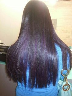 My purple highlights with my dark brown hair hair pinterest dark brown with purple peekaboo pmusecretfo Images