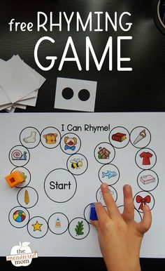 This simple rhyming game is perfect for young learners!