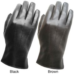 TANNERS AVENUE Men's I-Touch Lambskin Texting Gloves