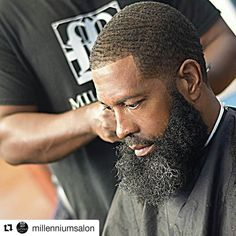 Beard Season is Here . Beard Styles For Men, Hair And Beard Styles, Hair Styles, Black Men Hairstyles, Cool Hairstyles, Salt And Pepper Beard, Black Men Beards, Beard Haircut, Beard Game