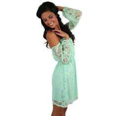 Rosewater & Lace Dress Mint   Impressions Online Women's Clothing Boutique