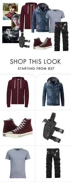 """""""Alex Dixon [Side With Me]"""" by mollymay2398 on Polyvore featuring Jack & Jones, Converse, A.P.C., men's fashion and menswear"""