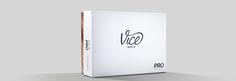 Packaging of our Vice PRO Model - 3-piece cast urethane premium golf ball at $24.95 per dozen