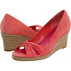 "these summery wedges have a great garden feel - love the color name ""shrimp"" lol"