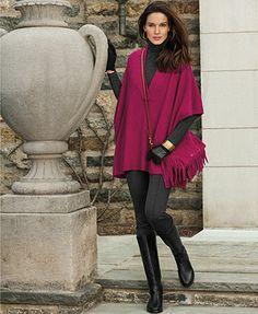 Lauren Ralph Lauren Oversized Sweater, Long-Sleeve Turtleneck & Pintucked Pants