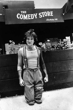 Robin Williams outside of The Comedy Store, 1978