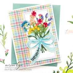 The Greetery Spring Fever Day 1 Reveal; Hopping Into Spring – Velvetlemon Heather Nichols, Spring Fever, American Crafts, Hero Arts, Handmade Flowers, Flower Cards, Stampin Up Cards, Rainbow Colors, Cardmaking