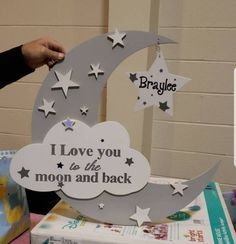 Love you to the moon and back sign, I love you to the moon nursery decor, moon and stars baby shower, gender neutral nursery, nursery decor - Metarnews Sites Moon Nursery, Star Nursery, Nursery Decor, Baby Decor, Nursery Signs, Shower Bebe, Baby Boy Shower, Baby Shower Gifts, Gender Neutral Baby Shower