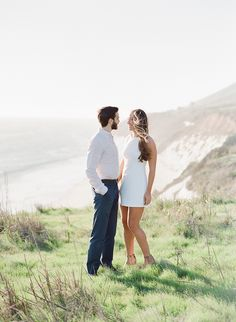 California engagement session: Photographer : Jose Villa Photography - http://josevillaphoto.com   Read More on SMP: http://www.stylemepretty.com/2017/03/30/a-stunning-beach-engagement-with-a-mastermind-behind-the-lens/