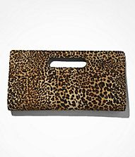 Yes Please!! LEOPARD PRINT CUT-OUT CLUTCH