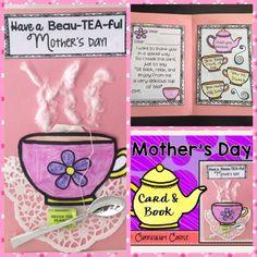 Mother's Day card and book craft! Such a special keepsake ! Grandmas Mothers Day Gifts, Mothers Day Poems, Mothers Day Crafts For Kids, Diy Mother's Day Crafts, Book Crafts, Holiday Crafts, Kids Crafts, Kindergarten Art Activities, Preschool Ideas