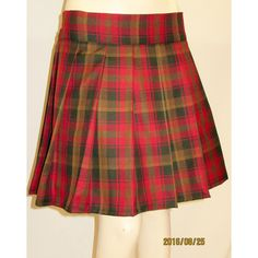 Maple Leaf Tartan Plaid Pleated Skirt~Gold Orange Plaid Skirts Small... ($16) ❤ liked on Polyvore featuring skirts, grey, women's clothing, womens plus size skirts, plus size plaid skirt, pleated skirt, gold pleated skirt and plus size wrap skirt