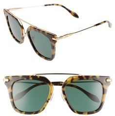 0491792b9c Women s Sonix Parker 50Mm Sunglasses - Caramel Tortoise  Green Solid on sale  for  79.90 during