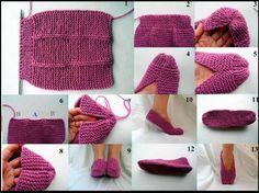 tutorial de zapato tejido DIY