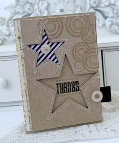 star card from Melissa Phillips.as cover christmas album? Mini Albums Scrap, Mini Scrapbook Albums, Scrapbook Cards, Cool Cards, Diy Cards, Star Cards, Scrapbooking, Masculine Cards, Card Tags