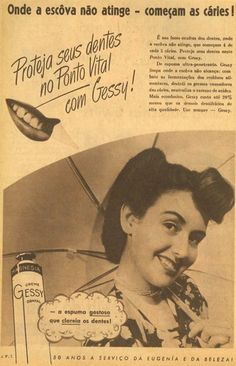 Iba Mendes: Anúncios antigos do creme dental GESSY