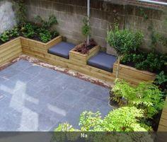 Mooi tuinontwerp voor kleine tuin (30m2) voornamelijk bakken