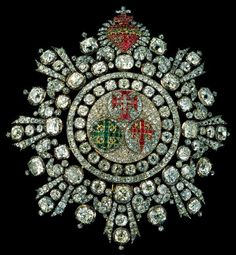 Portuguese crown jewels: Badge of the 3 orders (Order of Aviz, Order of Christ and Order of Saint James of the Sword)