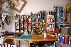 art-studio-organization This is a used studio, not just a showcase. And yet it stays organized.
