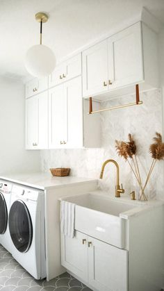 Mudroom Laundry Room, Laundry Room Remodel, Laundry Room Design, Laundry Room Cabinets, Laundry Room Countertop, Laundry Area, Small Laundry, Laundry In Bathroom, Armoires Shaker