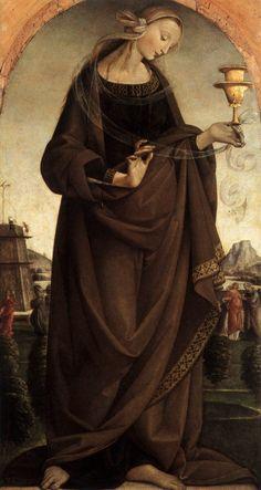 MASTER of the Story of Griselda  [Italian Early Renaissance Painter, active ca.1500]  Artemisia1492Oil on panel, 88 x 46 cmMuseo Poldi Pezzoli, Milan