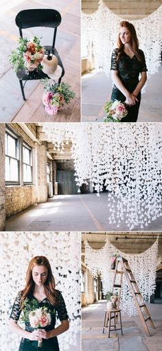 Easy Diy wax paper backdrop