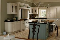 Iona Oak Inframe in Ballroom blue & White cotton. More at www.prdesignsni.co.uk #kitchen #design #style #trendy #quality #creative #luxurious #architecture #beauty #craftsmanship #precision #modern #prdesigns