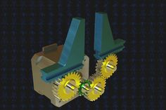 Another gripper, this time using rack/gear coupling. Modeled with Solidworks Student Design Kit Rendered with Simlab Composer 8 Mecha. Mechanical Force, Pinion Gear, 3d Cad Models, Woodworking Workshop, Animated Gif, Gears, Animation, Cool Stuff, Automata