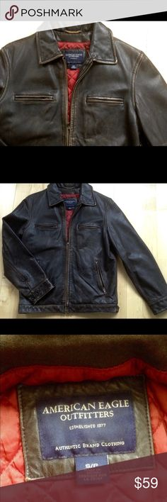 Selling this AMERICAN EAGLE  VINTAGE MOTO JACKET MENS SZ SMALL on Poshmark! My username is: vintageny. #shopmycloset #poshmark #fashion #shopping #style #forsale #American Eagle Outfitters #Other