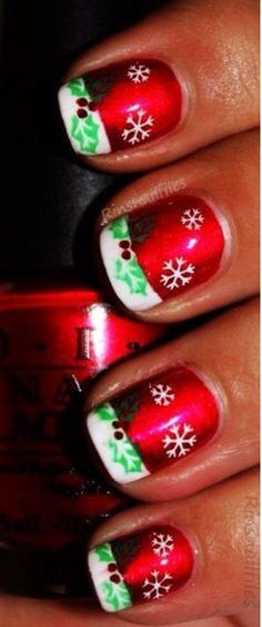 10 Ravishing Red And Green Nail Designs Nails Pinterest Green